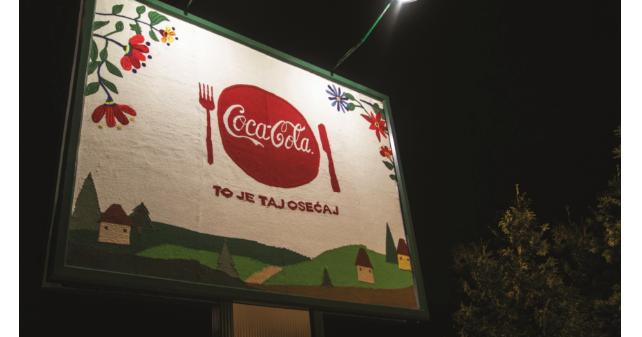 Coca Cola tkani bilbord