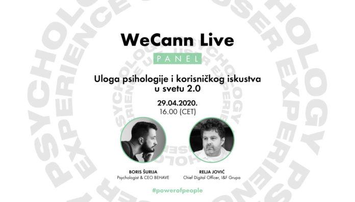 WeCann Live panel - Uloga psihologije i korisničkog iskustva u svetu 2.0
